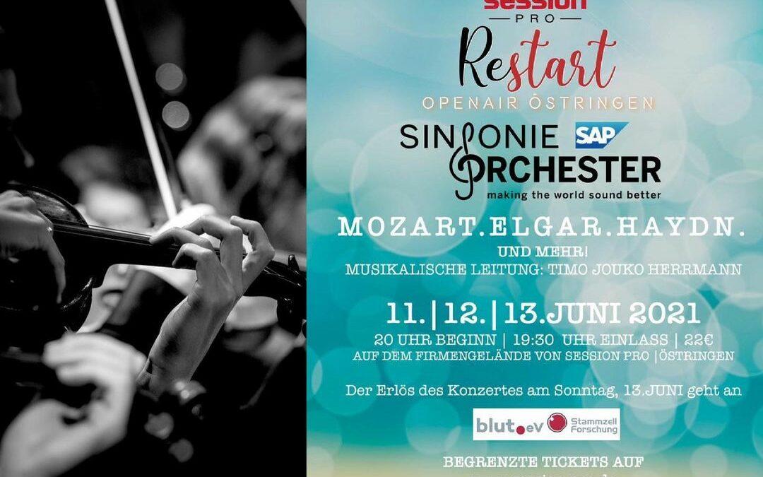 Das erste Open Air mit dem SAP Sinfonieorchester am 11.-13.06.2021. An gleich 3 …